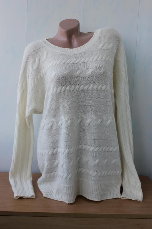 Удлинённый кашемировый (шерстяной) джемпер свитер на м-л-хл  р...