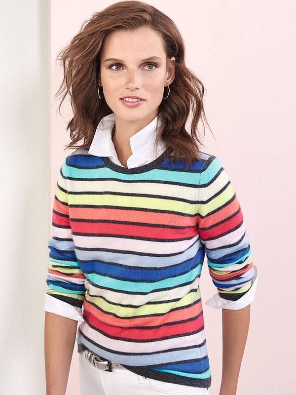 Джемпер в полоску из 100% кашемира  pure collection cashmere