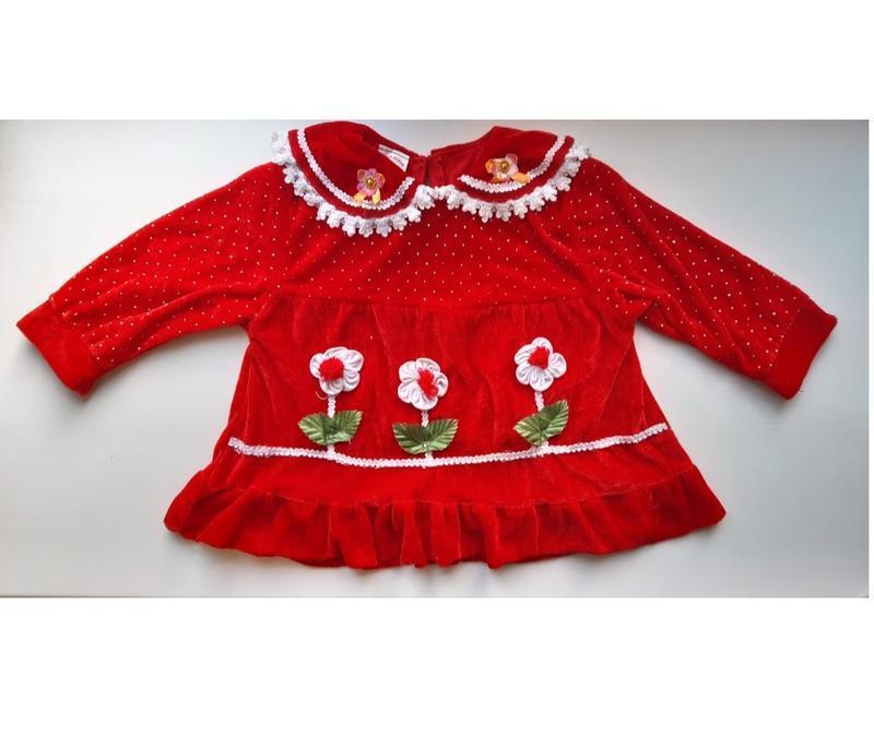 Красная велюровая бархатная кофта платье