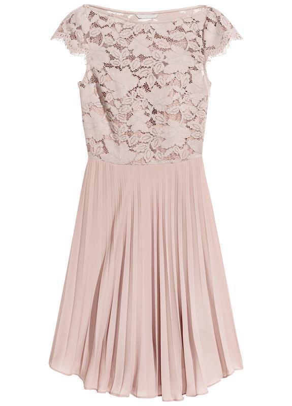 H&m платье кружевное, ажурное, плиссированное, плиссе - Фото 2