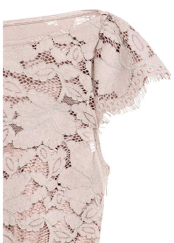 H&m платье кружевное, ажурное, плиссированное, плиссе - Фото 3