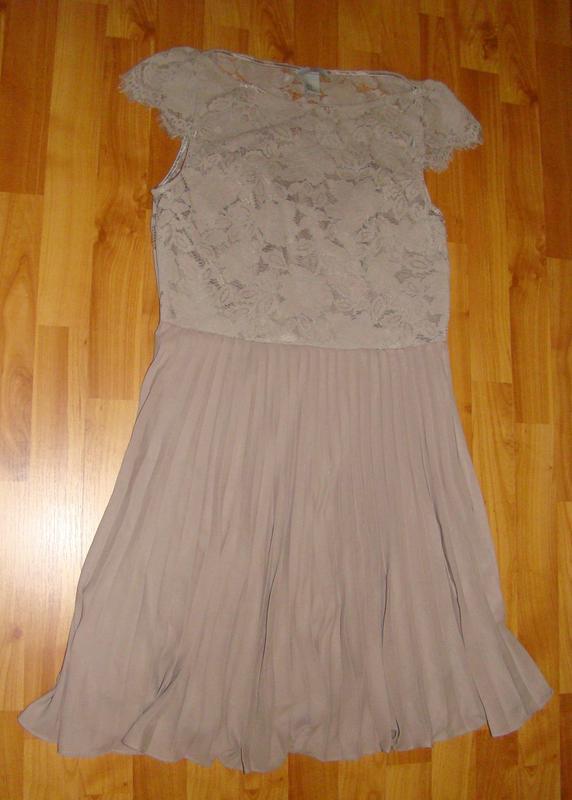 H&m платье кружевное, ажурное, плиссированное, плиссе - Фото 6