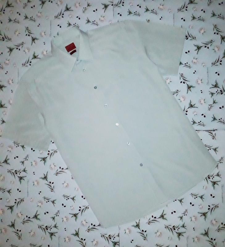 🎁1+1=3 фирменная светлая рубашка с коротким рукавом pierre car...
