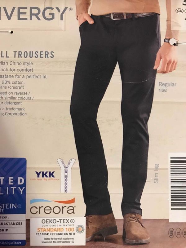 Стильные котоновые брюки р. 32 ,48