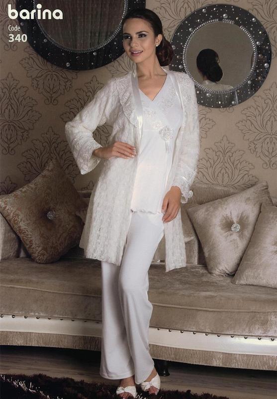 Роскошный пижамный комплект barina размер м