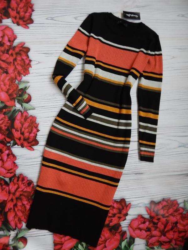 🌿модное, изумительно платье  миди в полоску. размер 2xl-3xl.🌿