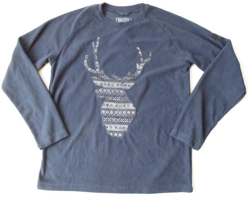 Домашний пижамный флисовый свитер regatta л