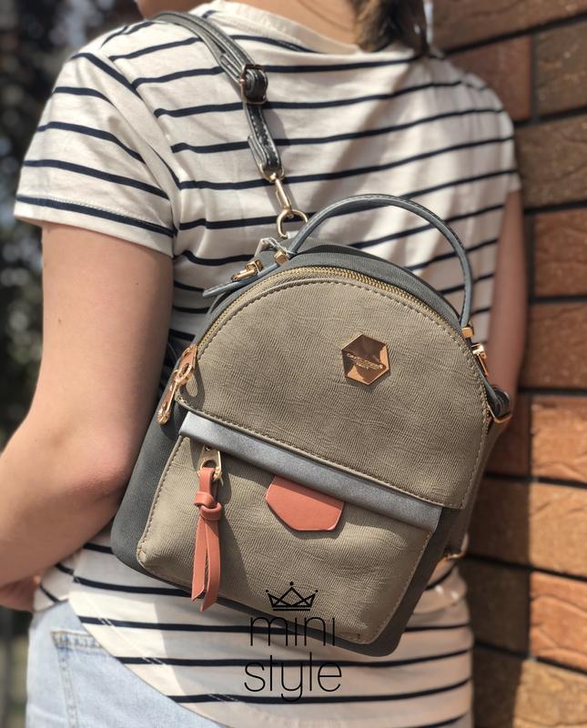 Рюкзак сумка трендовый рюкзачек cross-body кросс боди david jones