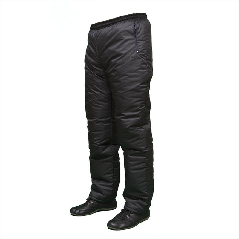 Зимние брюки мужские на синтепоне плащевка черные теплые 48-60р