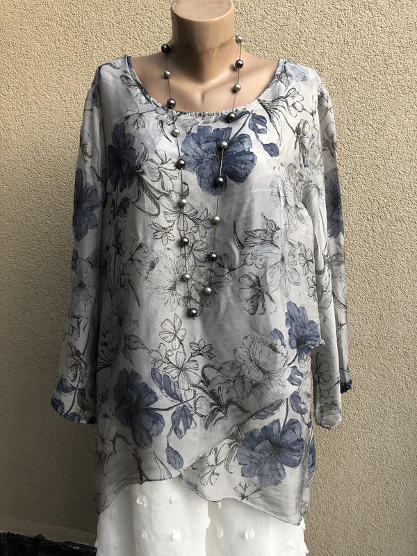 Шелковая блуза,рубаха,рюши,поданы,этно,бохо стиль,большой размер,