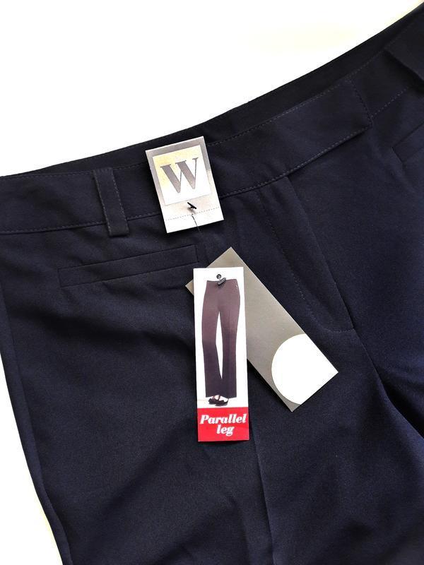 Распродажа! красивые темно-синие брюки р.16