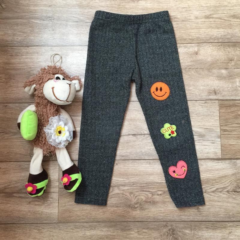 Шикарные теплые штанишки\лосинки * смайл *на 5\6 лет
