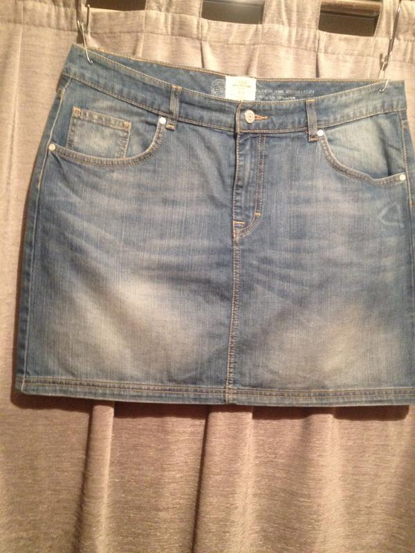 Джинсовая мини юбка.213