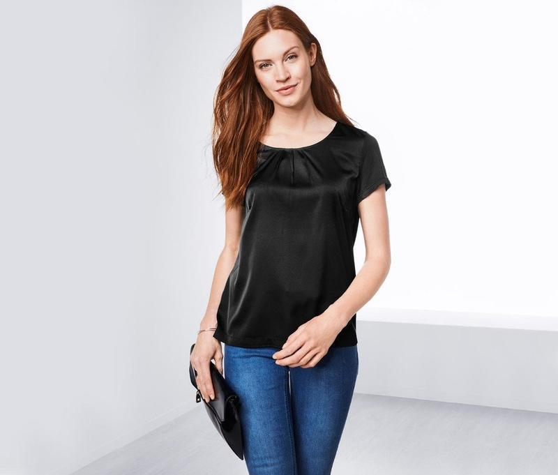 Шелковистая комбинированная блузка от tcm tchibo, германия