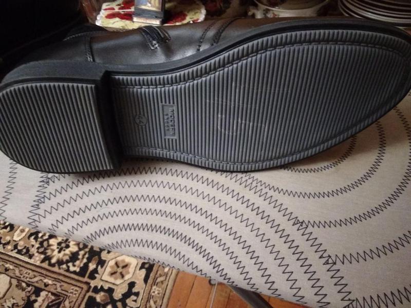 Классические кожаные мужские ботинки на зиму - Фото 5
