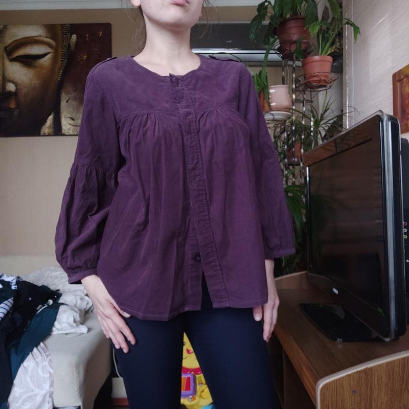 Вельаетовая рубашка / блуза