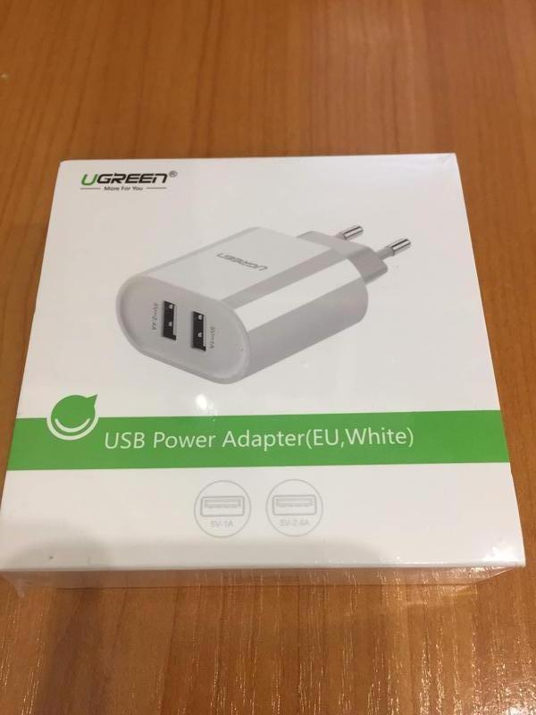 Продам зарядний пристрій Ugreen USB Power Adapter (EU, White)