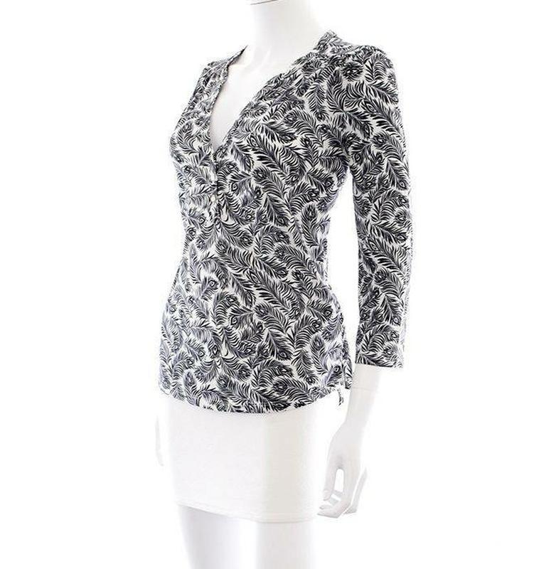 Трикотажная блуза, кофточка h&m в чёрно-белый принт
