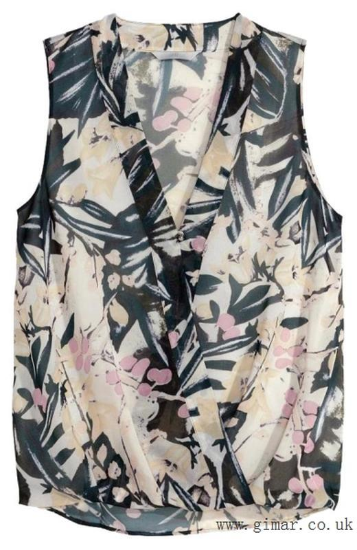 Красивая блуза с запахом в принт цветочный, молодежная одежда
