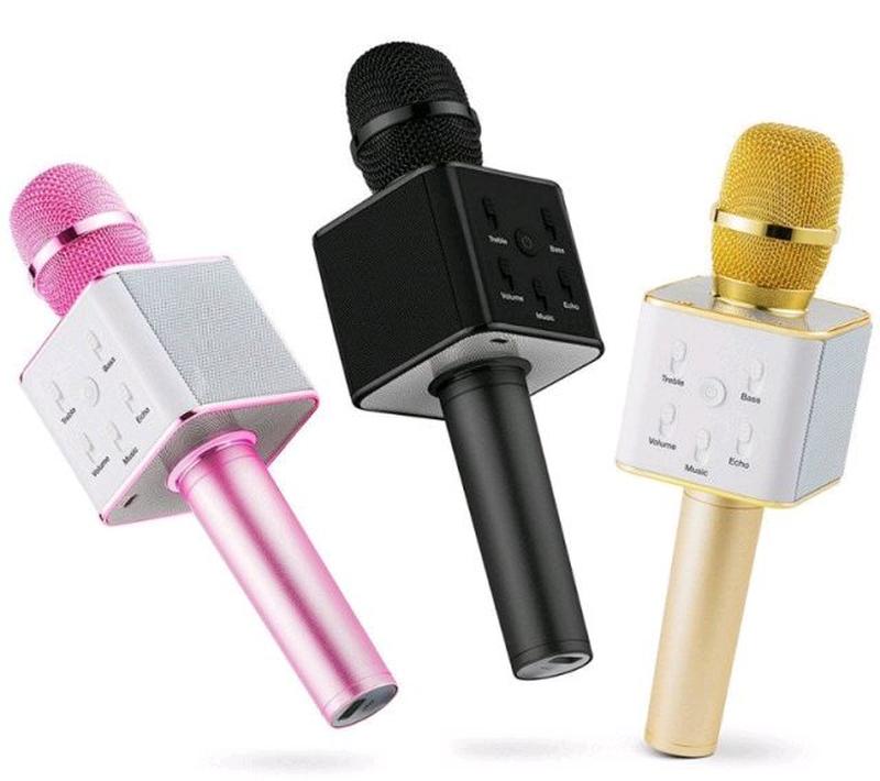 Блютуз микрофон Q7 с чехлом - Фото 5