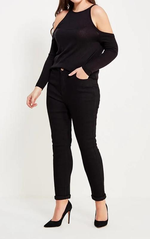 Стильные зауженные джинсы скинни с высокой посадкой vero moda