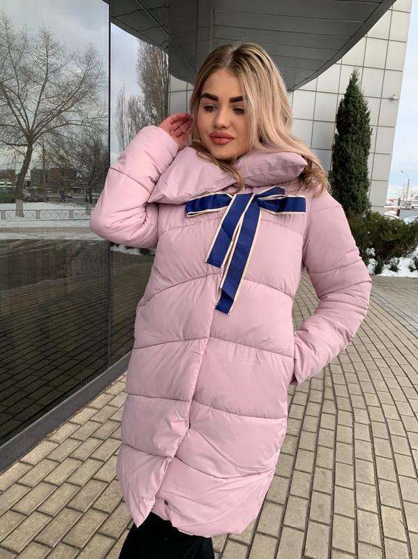 Пуховик матовая ткань пальто зимнее