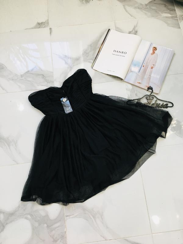 Новое пышное платье бюстье с фатином