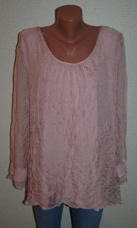 Блуза шелковая с кружевом (италия)
