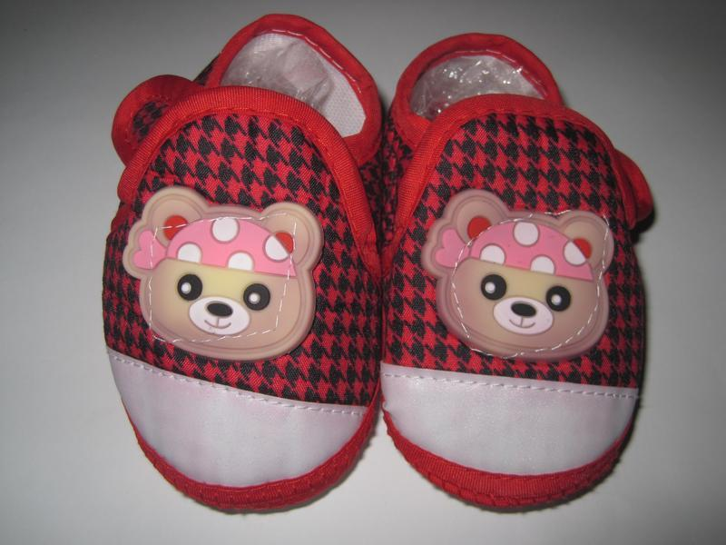 16 первая обувь малыша/ повседневные пинетки/ тапочки - Фото 4