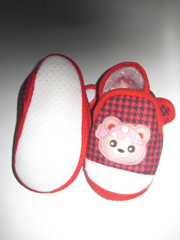 16 первая обувь малыша/ повседневные пинетки/ тапочки - Фото 5