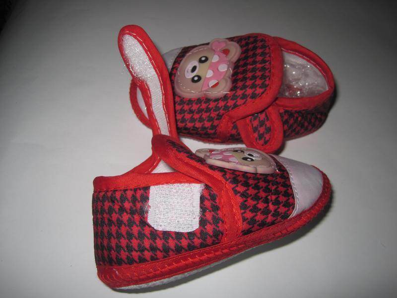 16 первая обувь малыша/ повседневные пинетки/ тапочки - Фото 7