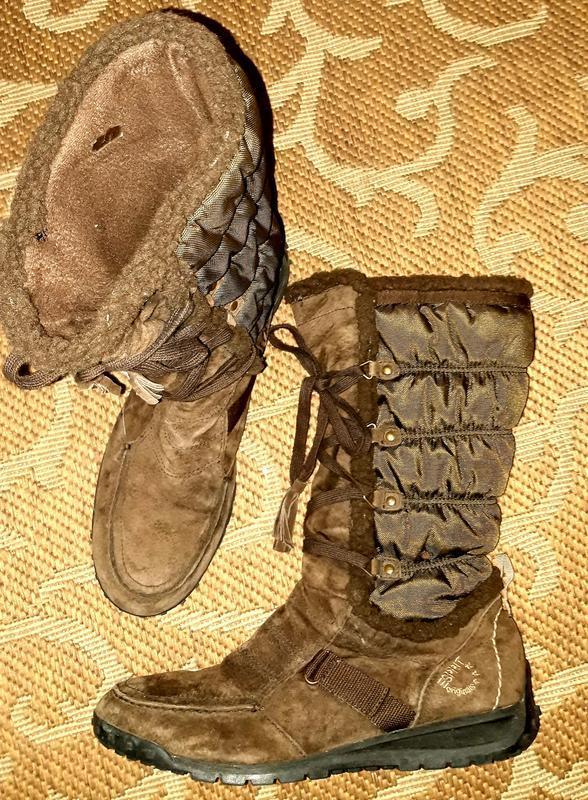 Брендові замшеві чоботи