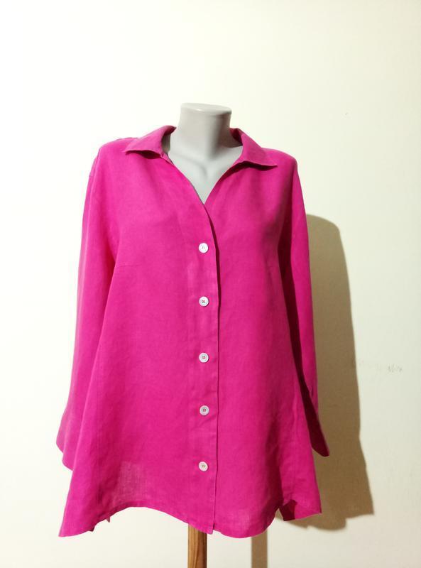 Итальянская блузочка лен 26 размер