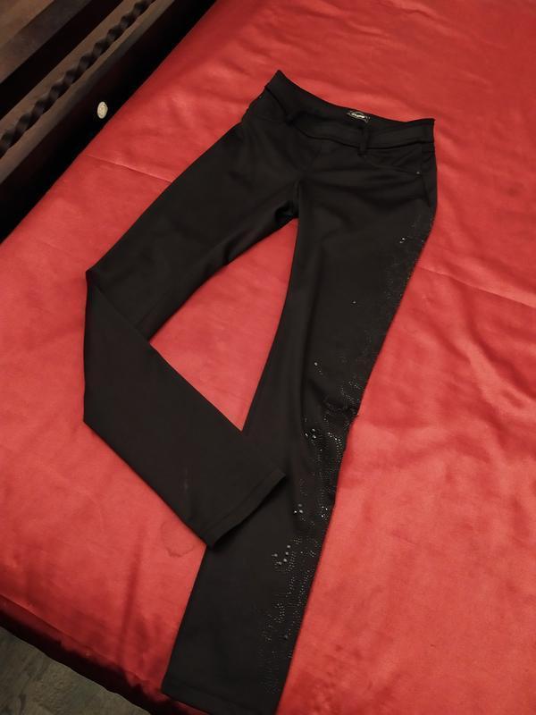 Очень! теплые скинни на байке джинсы брюки крутой мощный декор!!!
