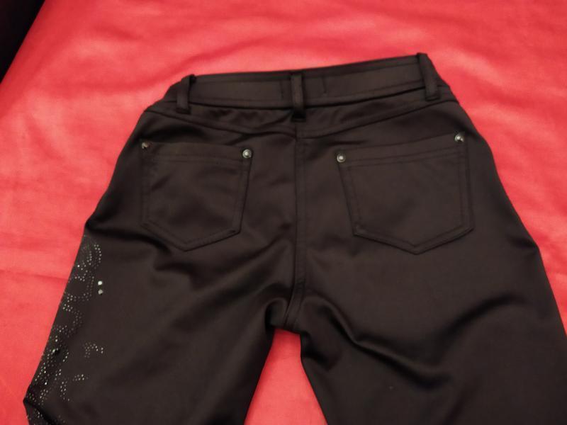 Очень! теплые скинни на байке джинсы брюки крутой мощный декор!!! - Фото 6