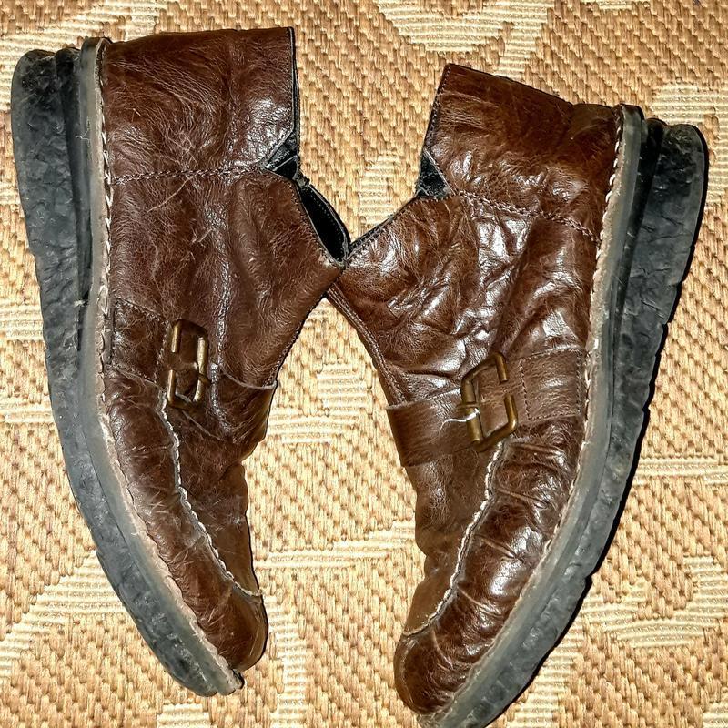 Шкіряні зимові туфлі