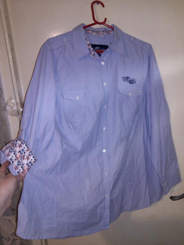 Классная,натурал. блуза-рубашка на пуговках,2 положения рукава...