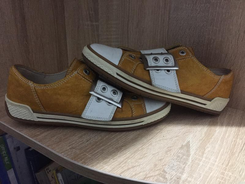 Кожаные туфли gabor 39 р. 24,5 см. - Фото 2