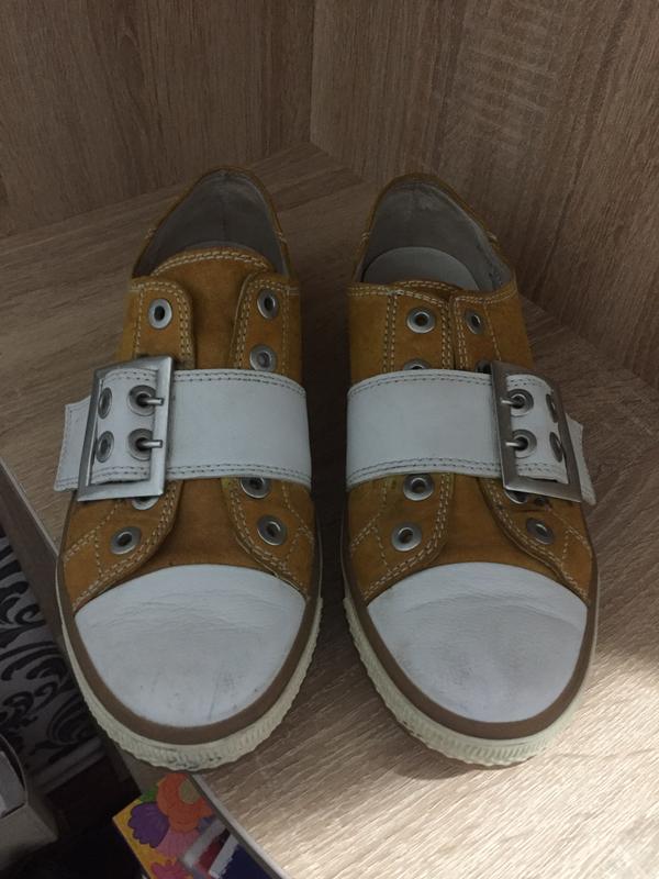Кожаные туфли gabor 39 р. 24,5 см. - Фото 3