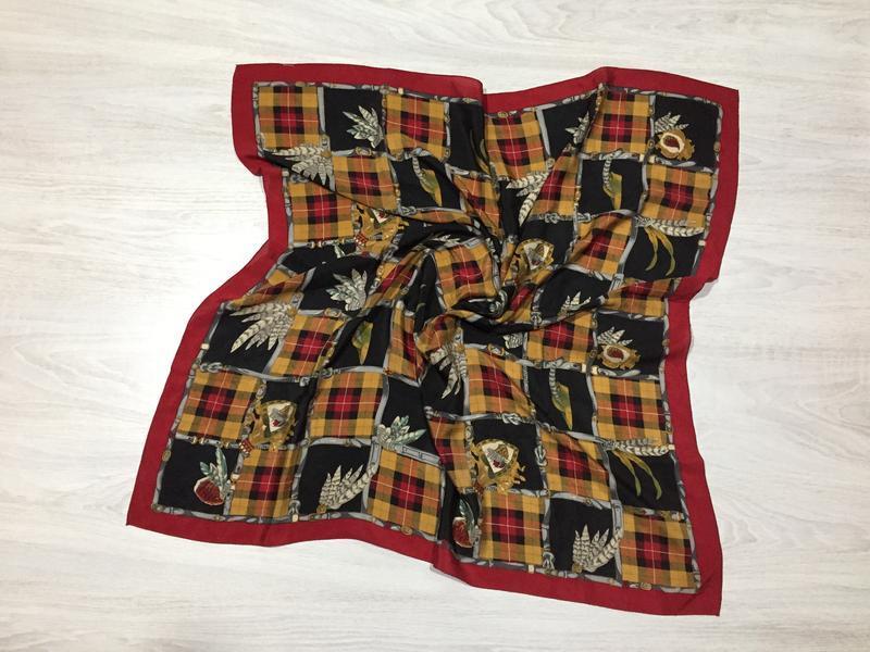 Легкий шелковый платок в стиле burberry hermes!
