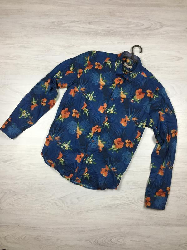 Красивая рубашка с длиным рукавом napapijri m lacoste!