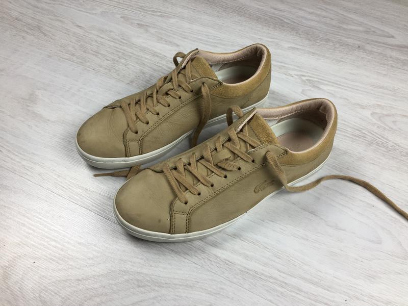 Красивые кроссовки кеды lacoste ecco оригинал!