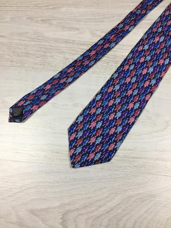 Красивый брендовый шелковый галстук tie rack made in italy silk