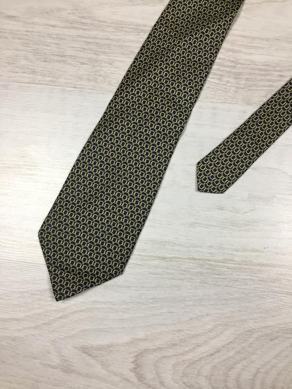 Красивый брендовый шелковый галстук luciano made in italy! silk