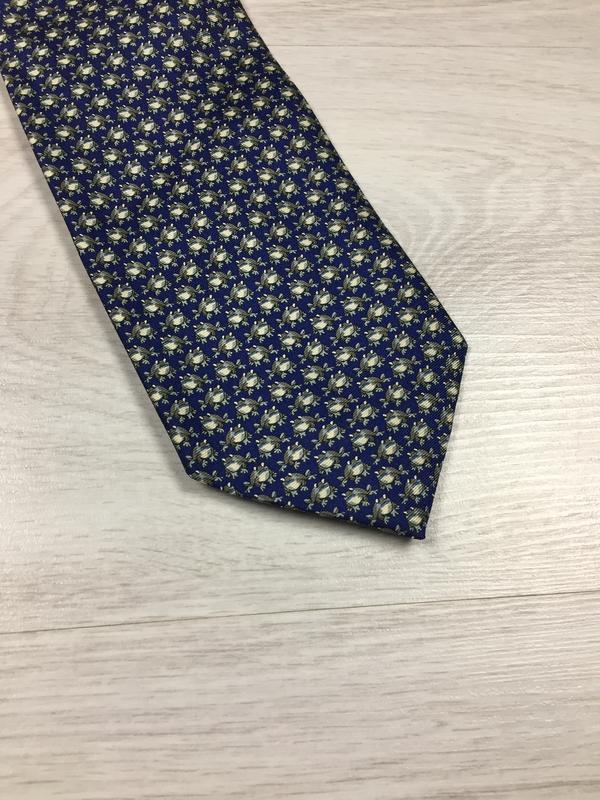 Кутой брендовый галстук marks & spencer silk шелк с жабками!