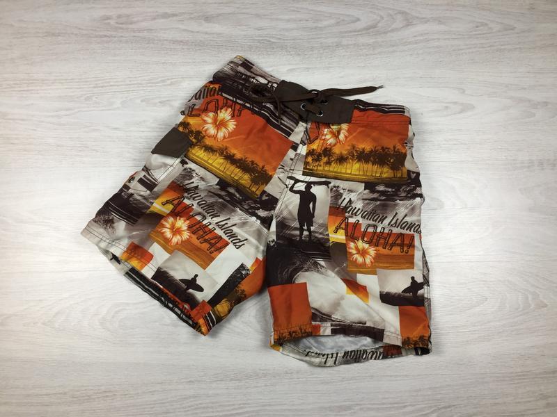 Красивые яркие пляжные шорты rodeo гавайские! с подкладкой!