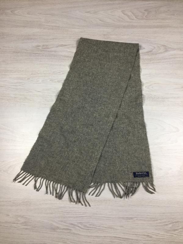 Фирменный мужской шерстяной шарф burberrys lambswool!
