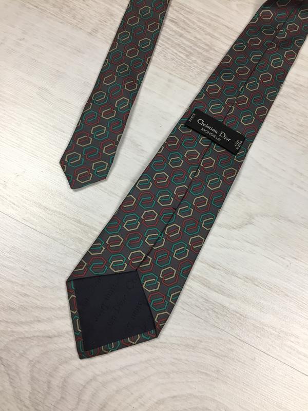 Галстук брендовый шёлковый christian dior! silk шелк