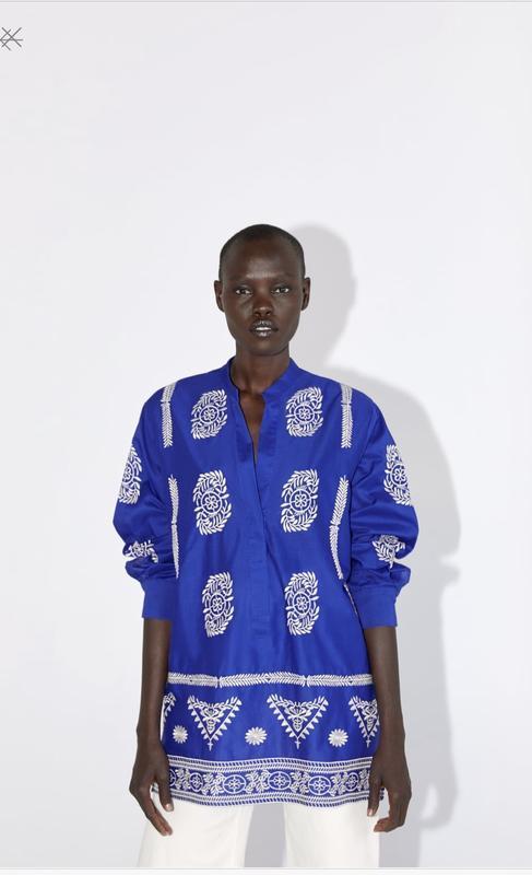 Очень стильная вышитая блуза от zara