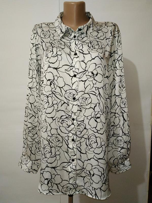 Блуза рубашка новая модная большой размер marks&spencer uk 20/...